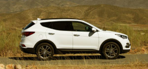 Боковая линия Hyundai Santa Fe 2016 в новом кузове