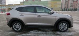Боковая линия Hyundai Tucson 2016 в новом кузове