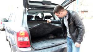Сетка в багажнике Хендай Туссан 2007 года