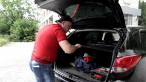 Шторка в багажнике Hyundai ix35